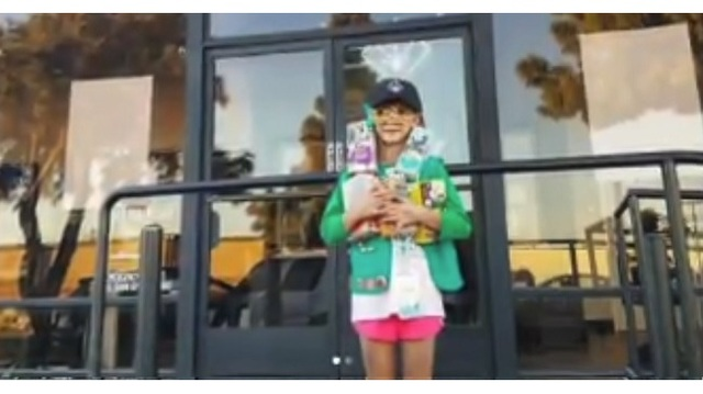 Young Girl Sells Hundreds Of Girl Scout Cookies Using Unlikely Source