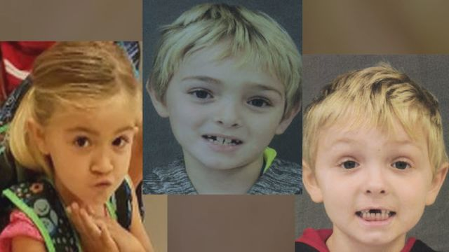 Police searching for 3 missing children