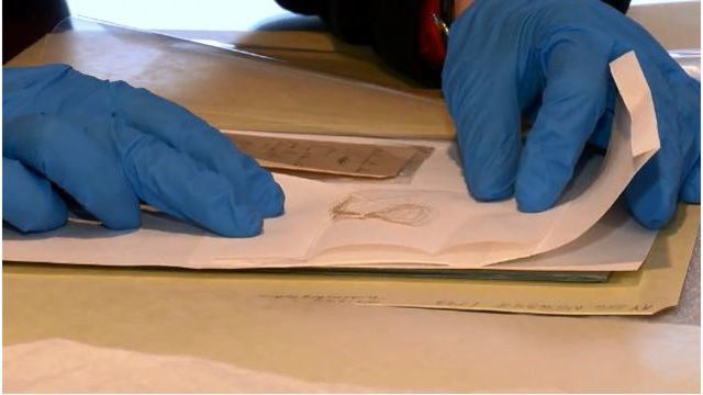 Lock of George Washington's hair found in library book
