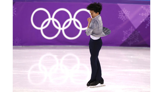 American figure skater Vincent Zhou lands first quad lutz in Olympics