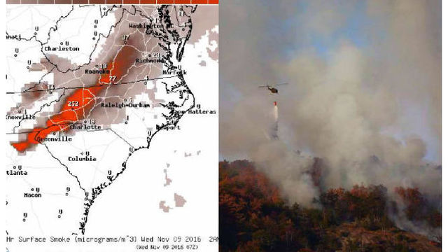 Evacuations underway as numerous NC mountain wildfires double in size