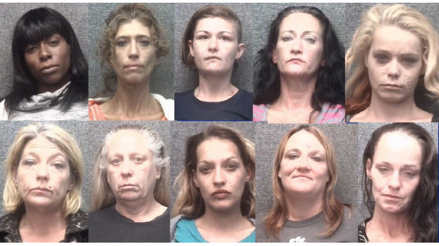 10 arrested in Myrtle Beach prostitution bust