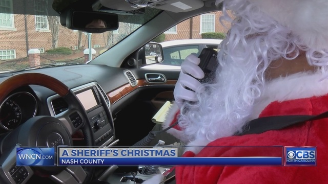 Santa teams up with Nash County Sheriff to help those in need