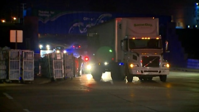28th St. near Division reopens after semi loses load