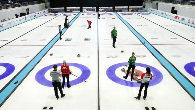 What is mixed doubles curling?