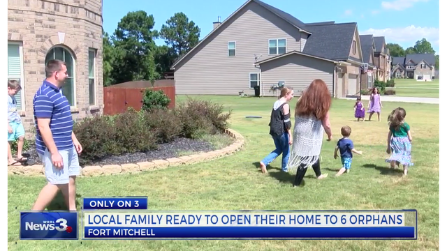 Local family opens their home to 6 Ukranian orphans