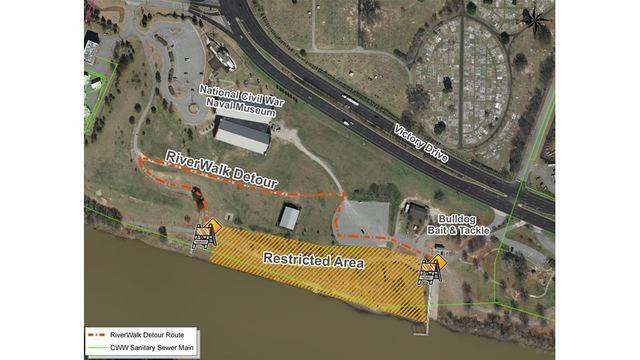 New detour opens on Columbus Riverwalk