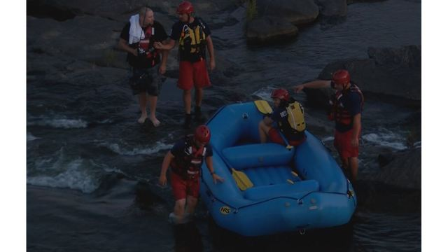 Stranded man rescued from Chattahoochee River