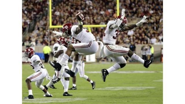Harris helps No. 1 Alabama outlast Texas A&M 27-19