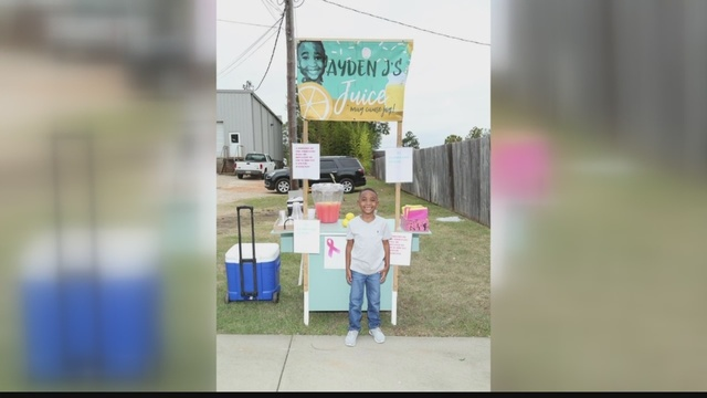 6-year-old Americus boy sells pink lemonade for breast cancer awareness