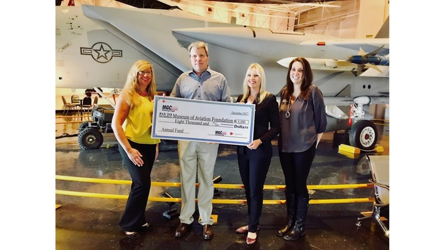 Mid-Georgia Cogen donates thousands to the Museum of Aviation Foundation