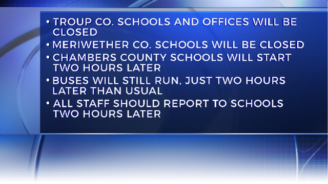 School delays and closings for January 8th