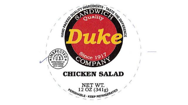 Chicken salad recalled for misbranding