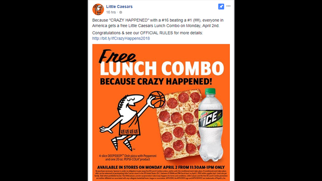 Little Caesars FREE Lunch Combo on April 2!