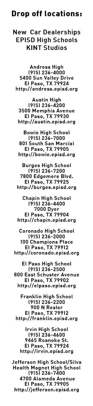 El Paso Cares Locations
