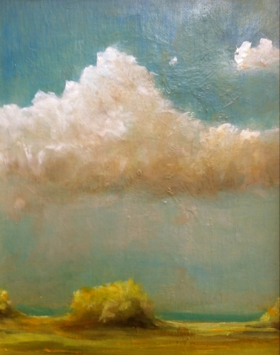 Slightly Cloudy - Cape Cod Landscape by leigh campion-mcinerney