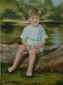 portrait, child, oil, painting, realism, full-length - Portrait Painting