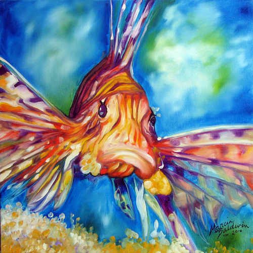 Fine art originals by marcia baldwin for Tropical fish painting