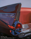 1957, 57, Chevy, Belair, classic, car, 50's - Cityscape Painting