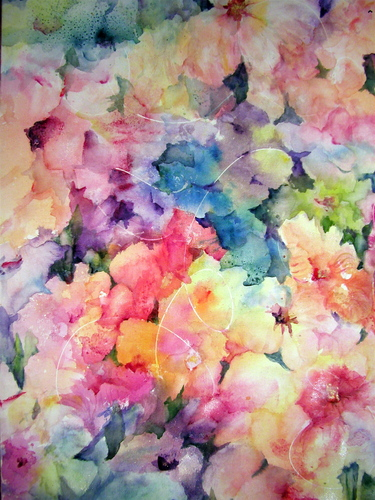 Art Flowers Paintings Contemporary