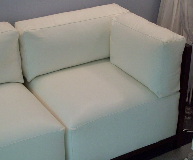 Ocean Tents White Leather Corner Chair