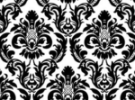 black white damask