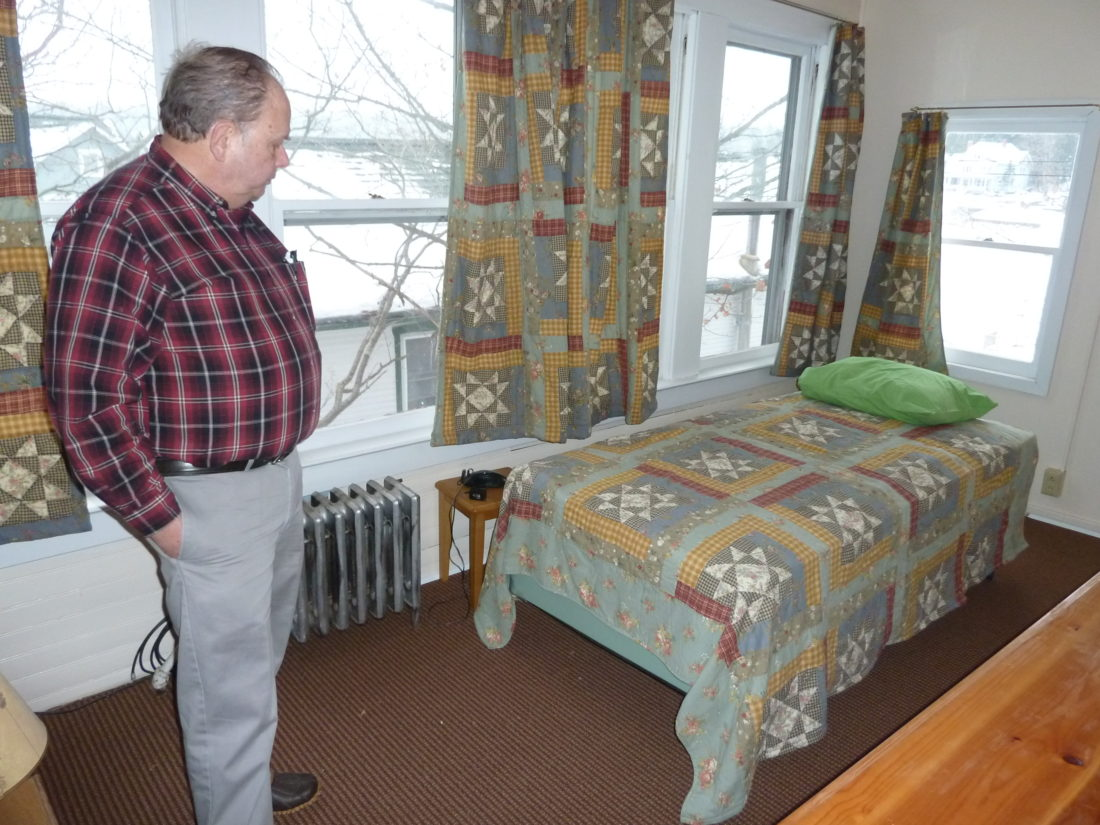 Rich Loeber, President Of The Ecumenical Council Of Saranac Lake, On  Wednesday Shows One Of Eight Bedrooms In Samaritan House, A Transitional  Housing ...
