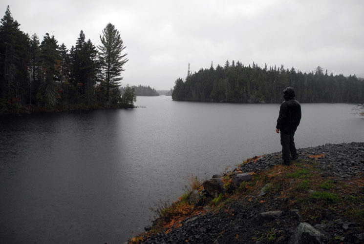 A person looks out over the water at Boreas Ponds, the future of which will be decided in the coming year when the APA and DEC determine what uses will be allowed.(Enterprise photo — Chris Knight)