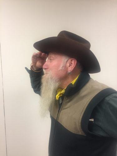Bob Seidenstein rockin' some western wear. (Enterprise photo — Brittany Proulx)