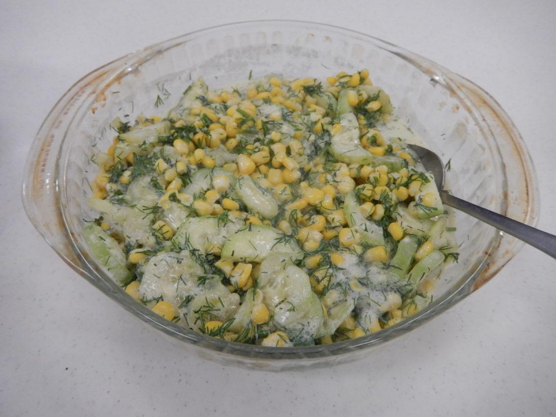 Corn and Cucumber Salad (Photo provided — Yvona Fast)