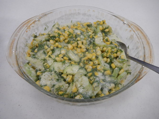Corn and Cucumber Salad (Photo provided — Yvona Fast)