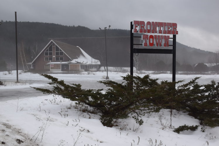 "The main lodge at the former Frontier Town is seen in January as plans were announced by Gov. Andrew Cuomo to create a ""gateway to the Adirondacks"" on this site. (Enterprise photo — Justin Levine)"