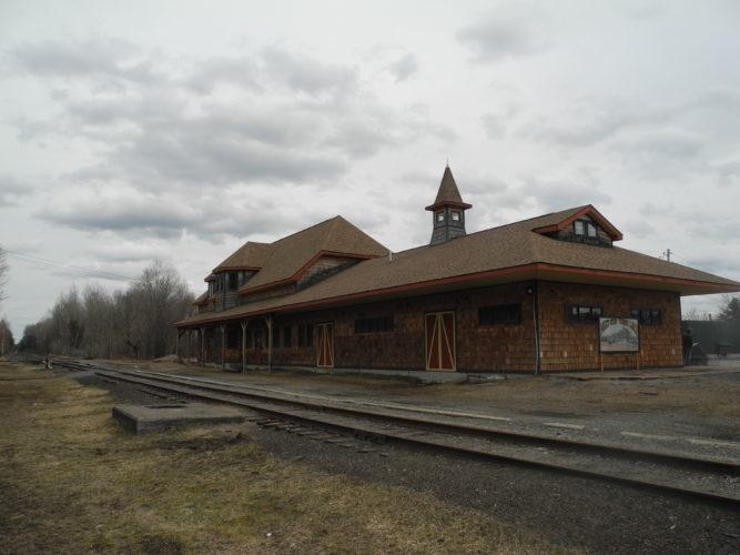 The Tupper Lake train depot on Main Street is seen Tuesday.  (Enterprise photo — Ben Gocker)