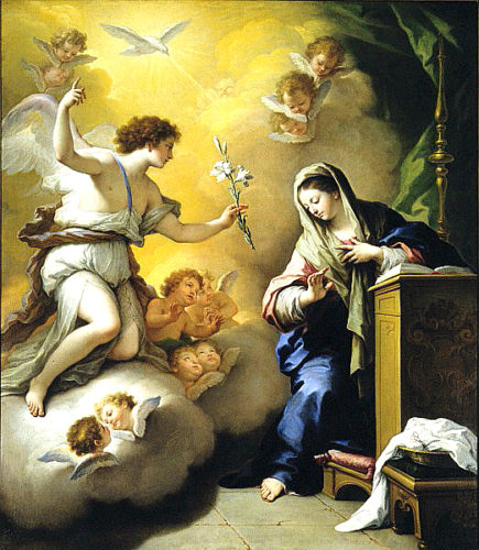 """The Annunciation"" by Paolo de Matteis, 1712, Saint Louis Art Museum (Photo provided)"