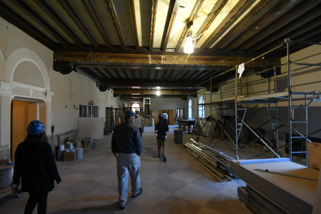 A view of progress on the second floor at the Hotel Saranac. (Enterprise photo — Lou Reuter)