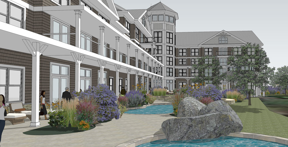 The sketch from November 2015 shows what the Lake Flower Resort and Spa might look like. (Image provided)