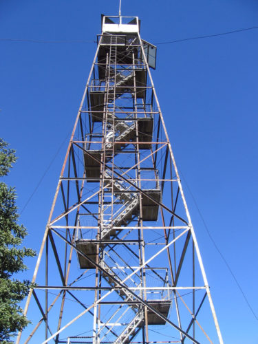 The Wakely Mountain fire tower is seen in September 2016. (Enterprise photo — Morgan Ryan)