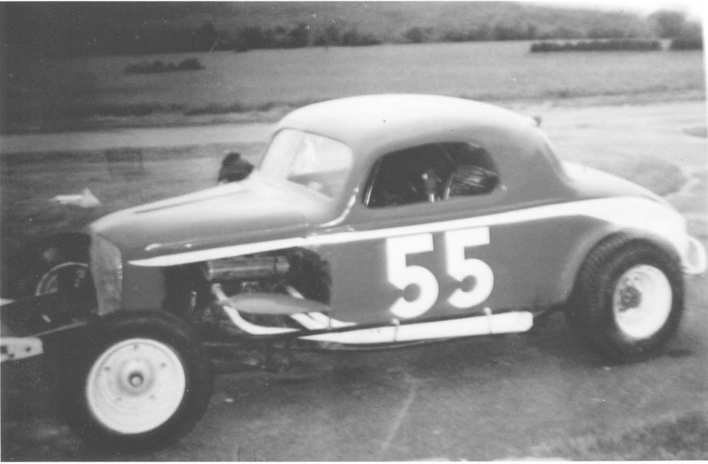 Jim Hoyt, not visible, in his No. 55 car