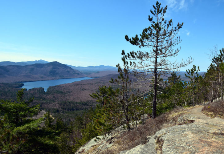 Silver Lake Mountain in the town of Black Brook has a scenic view, as seen on April 24. It's one of 13 less-popular hikes the state Department of Environmental Conservation recommends on its homepage, an attempt to steer Adirondack visitors away from the most crowded trails in the Lake Placid and Keene area. (Enterprise photo — Justin A. Levine)