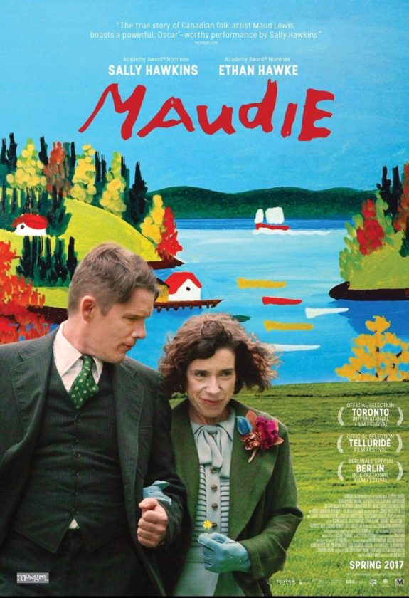 """Maudie,"" a movie about Nova Scotian folk painter Maud Lewis starring Sally Hawkins and Ethan Hawke, will be shown at 7 p.m. today at the Palace Theatre in downtown Lake Placid as part of the Lake Placid Film Forum. It's the second consecutive year Hawke has been on screen at the Film Forum; last year he was seen playing jazz trumpter Chet Baker in ""Born to Be Blue."""