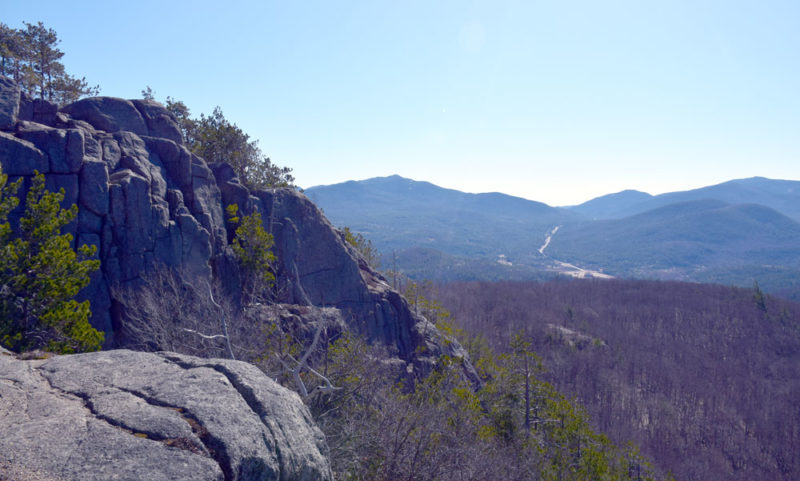 The summit of Owls Head Mountain in Keene, seen April 14, has a scenic view, plus cliffs that are popular among rock climbers. (Enterprise photo — Justin A. Levine)