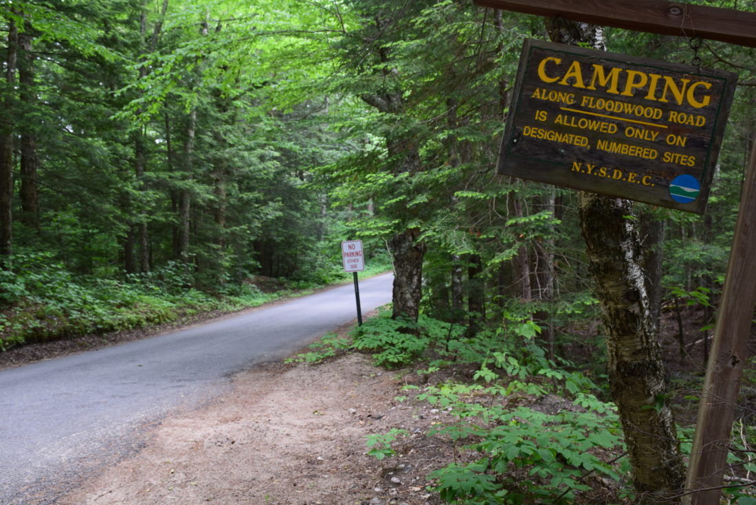 The DEC plans to close eight campsites along Floodwood Road near Saranac Inn, but would also build several new sites to offset the loss to the popular camping area. (Enterprise photo — Justin A. Levine)
