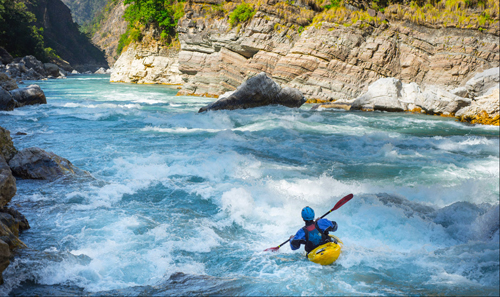 Eric Adsit, a 25-year-old freelance writer and photographer from Lowville, captured this image during a three-week whitewater kayaking adventure through western Nepal. Adsit will be at Left Bank Cafe in Saranac Lake at 7 p.m. Tuesday to give a presentation describing the expedition and the making of his award-winning film. The event is free and open to the public. (Photo provided)