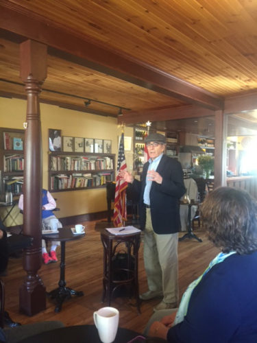 Jim Britell from the Franklin County Historical Association spoke to ​Saranac Lake Rotarians on May 23. From Malone resident and U.S. Vice-President William ​B. Wheeler through Bob Marshall to the present day​,​ many Franklin County and Saranac Lake activists laid the foundation for the wilderness protections we enjoy today.  (Photo provided)