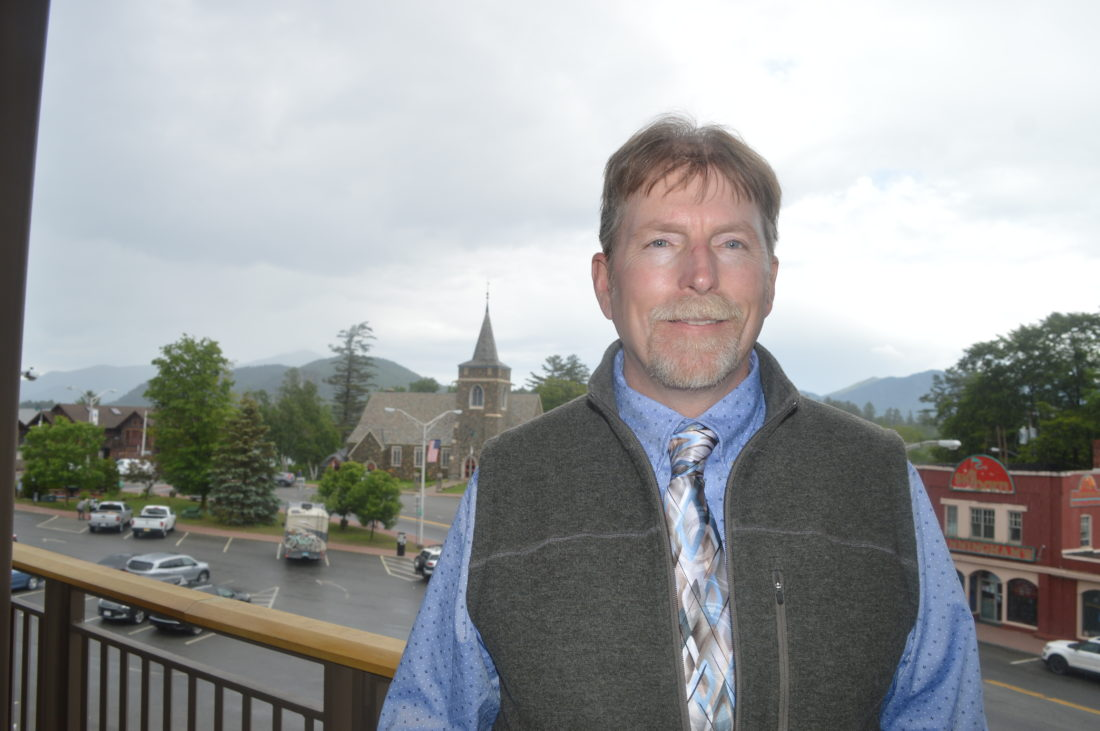 """James """"Bone"""" Bayse was announced as the new general manager at Gore Mountain Ski Center in North Creek at Tuesday's State Olympic Regional Development Authority Board of Directors meeting at the Conference Center at Lake Placid. (Enterprise photo — Antonio Olivero)"""