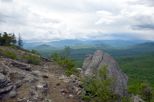 Cobble Lookout near Wilmington offers views of Whiteface and Esther mountains, as well as the Jay and Giant mountain wilderness areas. (Enterprise photo — Justin A. Levine)