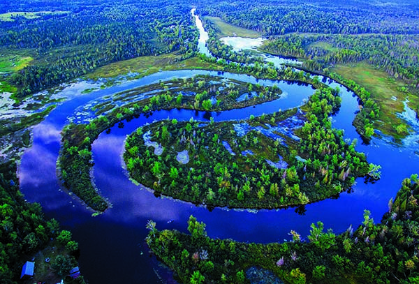 The Wild Center Museum in Tupper Lake is celebrating the donation of 34 acres of land, which covers most of the iconic Oxbow on the Raquette River. (Photo provided — Mitch Harriman)
