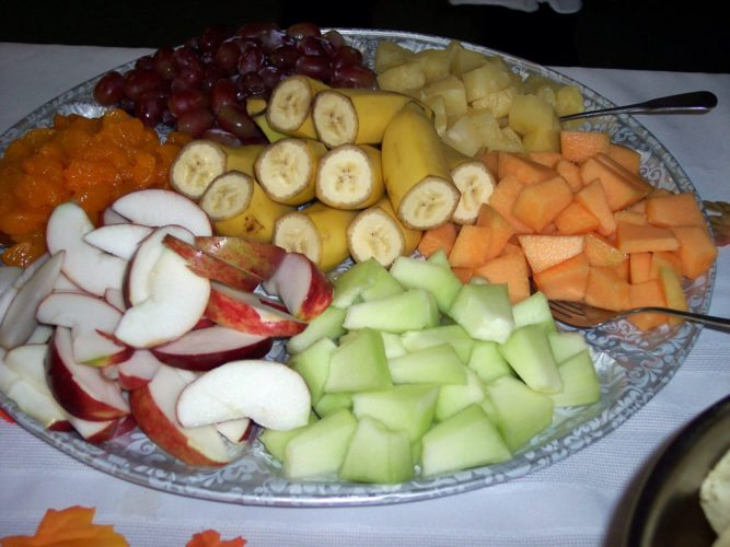Fruit plate  (Photo provided — Yvona Fast)