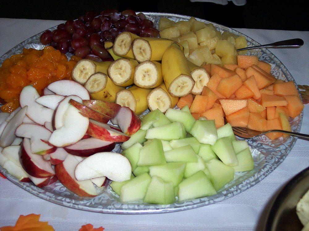 Fruit plate  (Photo provided — Yvona Fast)