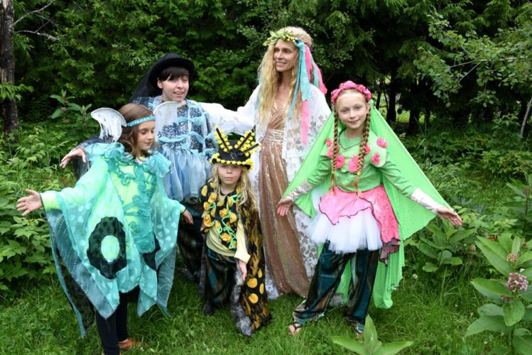 "Members of the cast of ""A Midsummer Night's Dream"" practice the play at Dewey Mountain in Saranac Lake. Performances start at 7 p.m. Friday. (Photo provided — Mark Kurtz)"